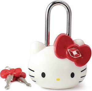 TSA Approved Hello Kitty Lock