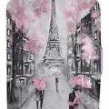 Paris In Pink Suitcase Cover