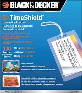 Black & Decker Laminating Luggage Tags