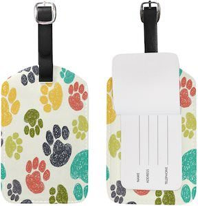 Colorful Paws Luggage Tag