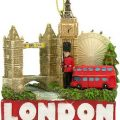 London Tourist Attractions Christmas Ornament