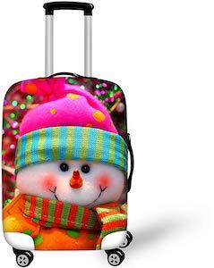 Festive Snowman Suitcase Cover