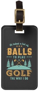 Play Golf Luggage Tag