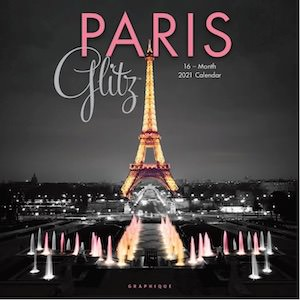2021 Paris Glitz Wall Calendar