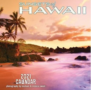 2021 Sunsets Of Hawaii Wall Calendar