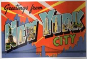 Greetings From New York City Sticker