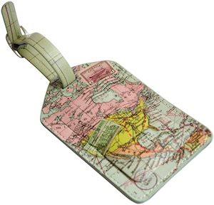 Map Luggage Tag