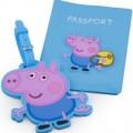 Peppa Pig Passport Holder And Luggage Tag Set
