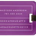 Purple Dots And Lines Luggage Tag
