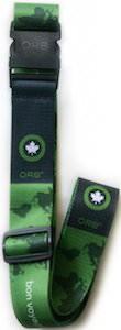ORB Travel Green World Map Luggage Strap