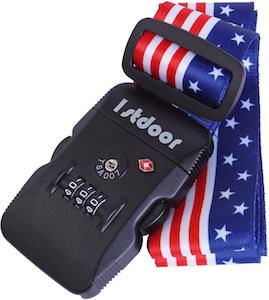 American Flag Luggage Strap With Lock