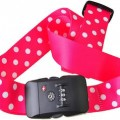 Polka Dots Luggage Strap With Lock