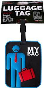 Moustache Man luggage tag