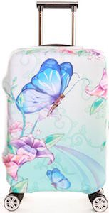 Butterfly And Flowers Suitcase Cover