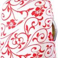 Red And White Floral Decor Suitcase Cover