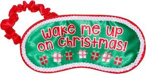 Wake Me Up On Christmas Eye Mask