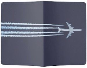 Airplane Contrail Passport Cover