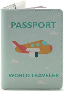 World Travel With Plane Passport Cover