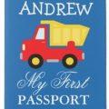 Dump Truck Personalized Passport Cover