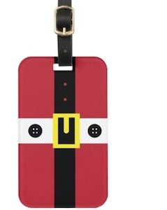 Santa Claus Costume Luggage Tag