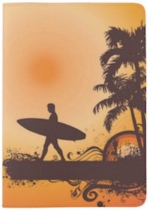 Surfboard And The Beach Passport Cover