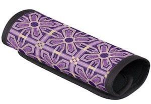 Purple Art Deco Flower Handle Wrap