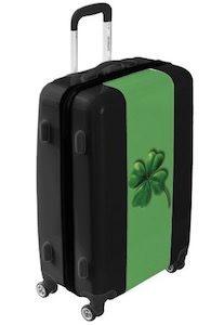 St Patrick's Day Shamrock Suitcase