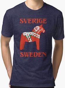 Sweden Wooden Horse T-Shirt