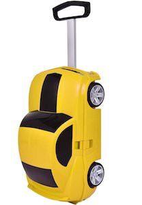 Yellow Car Kids Suitcase