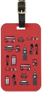Typical London Luggage Tag