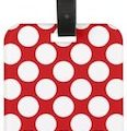 Red With Polka Dots Luggage Tag
