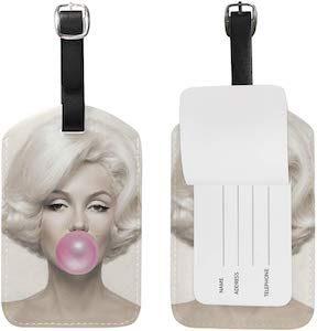 Marilyn Monroe Bubblegum Luggage Tag