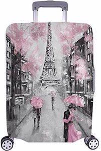 Paris In Pink Suitcase Cover