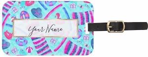 Beach Party Luggage Tag