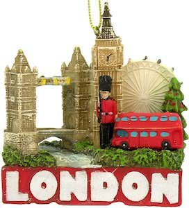 London Tourist Attartions Christmas Ornament