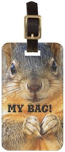 Squirrel My Bag Luggage Tag