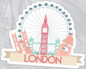 London Scenes Sticker