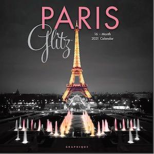 2021 Paris Glitz Wall Calendar