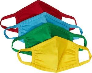 Kids Colorful 4 Pack Face Masks