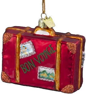 Suitcase Christmas Ornament