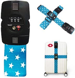 Luggage Strap With Stars And TSA Approved Lock