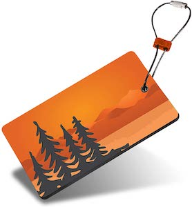 Orange Scenery With Trees Luggage Tag