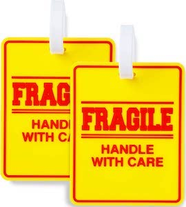 Fragile Handle With Care Luggage Tag